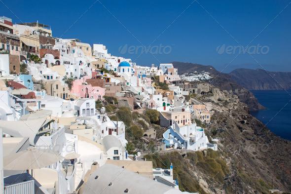 Oia on Santorini  - Stock Photo - Images