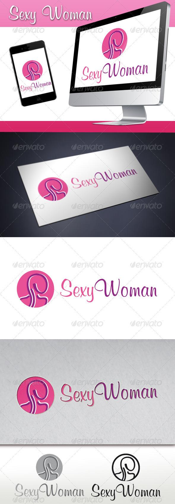 Sexy Woman Logo - Humans Logo Templates