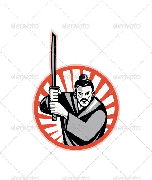 Samurai Warrior Sword Retro  - People Characters