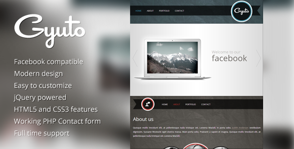 Gyuto – facebook template