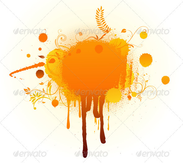 Big Orange Blot - Backgrounds Decorative
