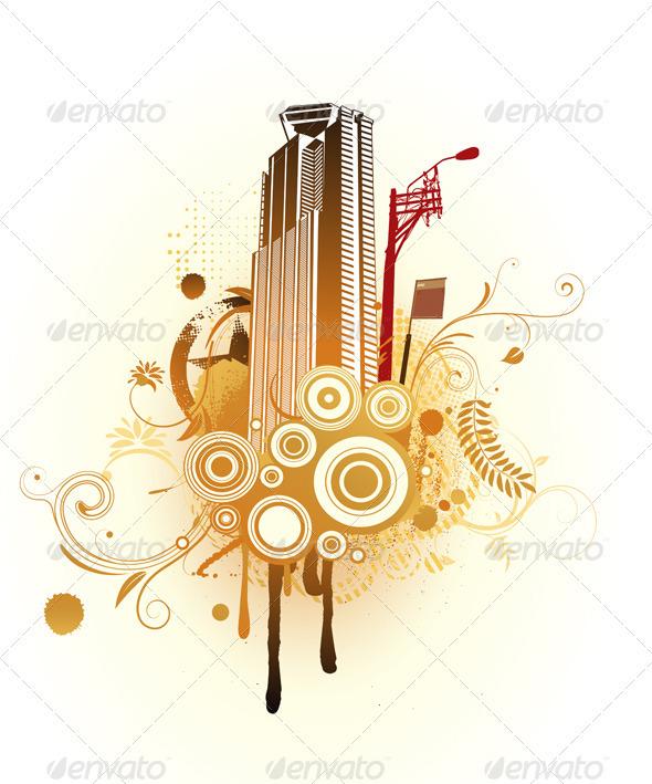Urban Composition - Decorative Vectors