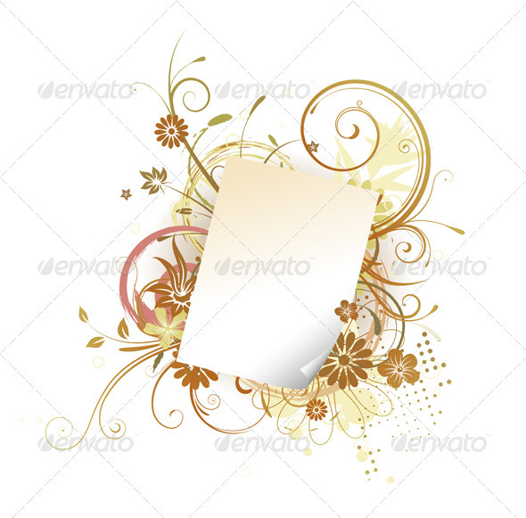 Paper Leaf Frame  - Borders Decorative