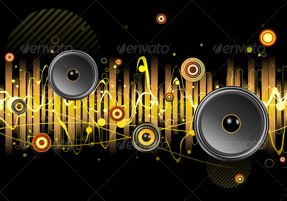 Urban Music Scene - Backgrounds Decorative