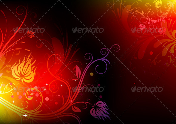 Futuristic Floral Background - Backgrounds Decorative