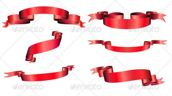 Ribbons Set - Decorative Vectors