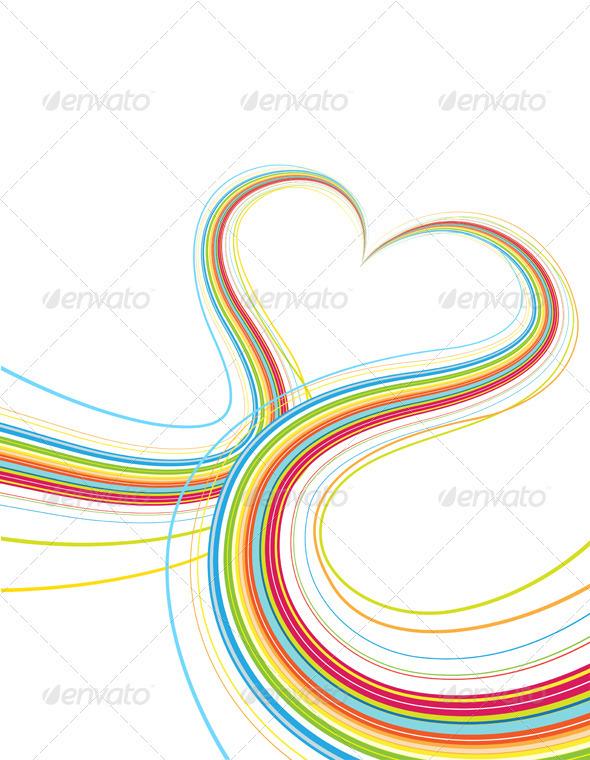 Colorful Heart Shape  - Decorative Vectors