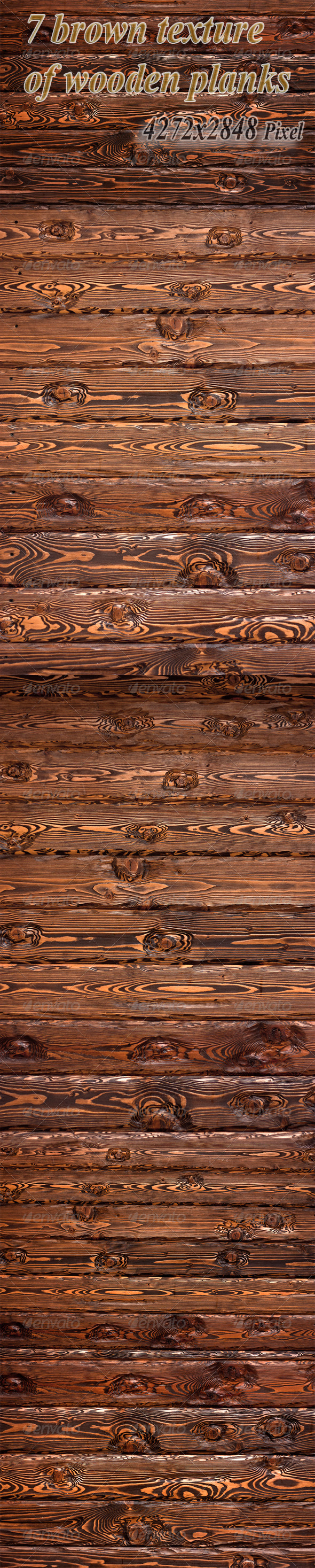 Seven Brown Texture of Wooden Planks - Wood Textures