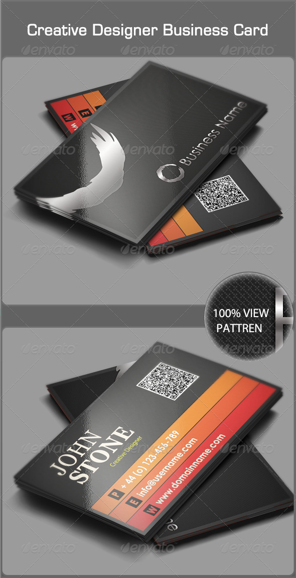 Creative designer business card by azadcsstune graphicriver creative designer business card creative business cards reheart Images