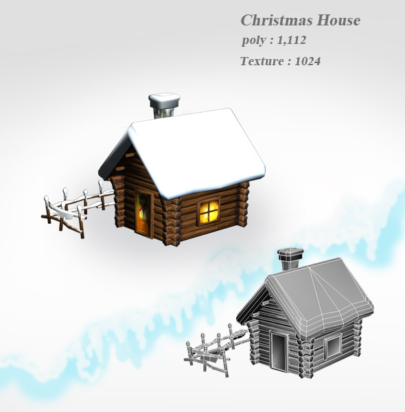 Christmas House - 3DOcean Item for Sale