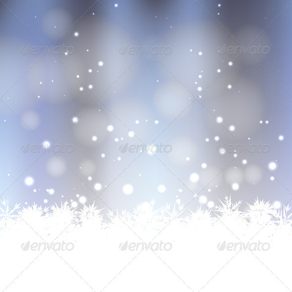 Winter Snow Background - Christmas Seasons/Holidays