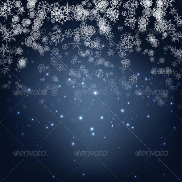 Blue Winter Background - Christmas Seasons/Holidays