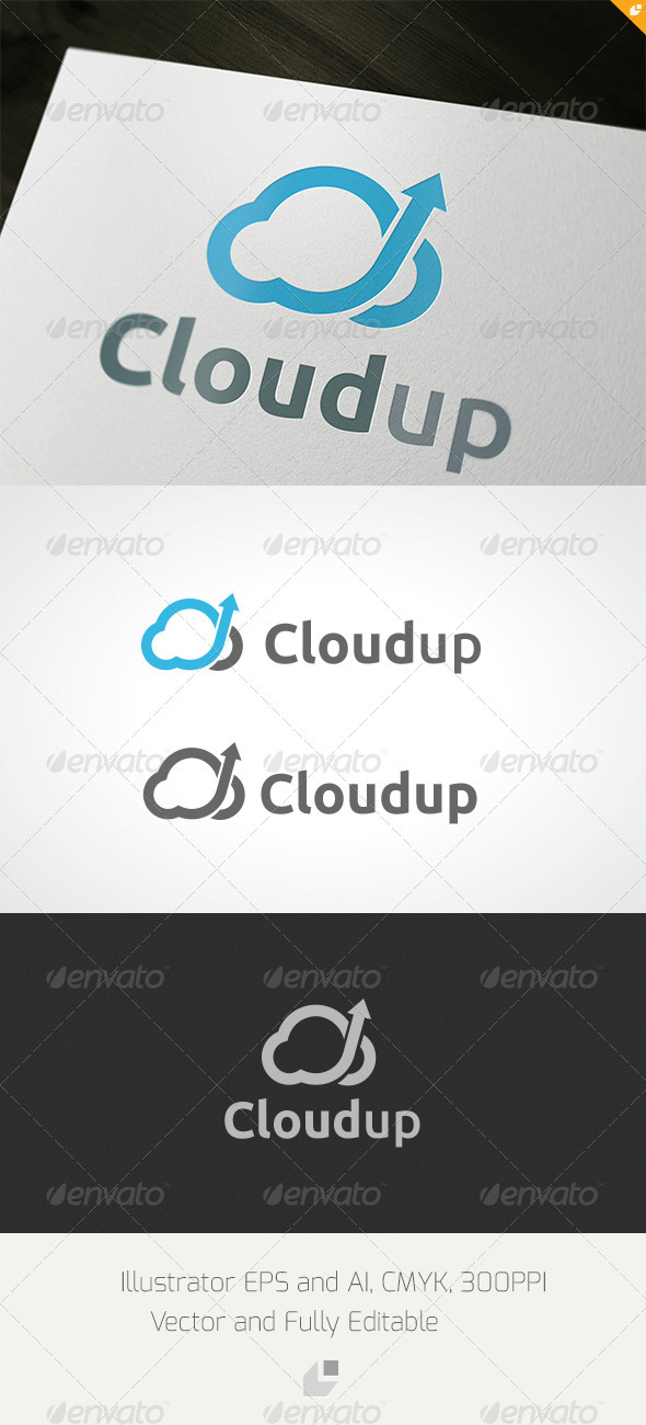Cloudup Logo - Nature Logo Templates