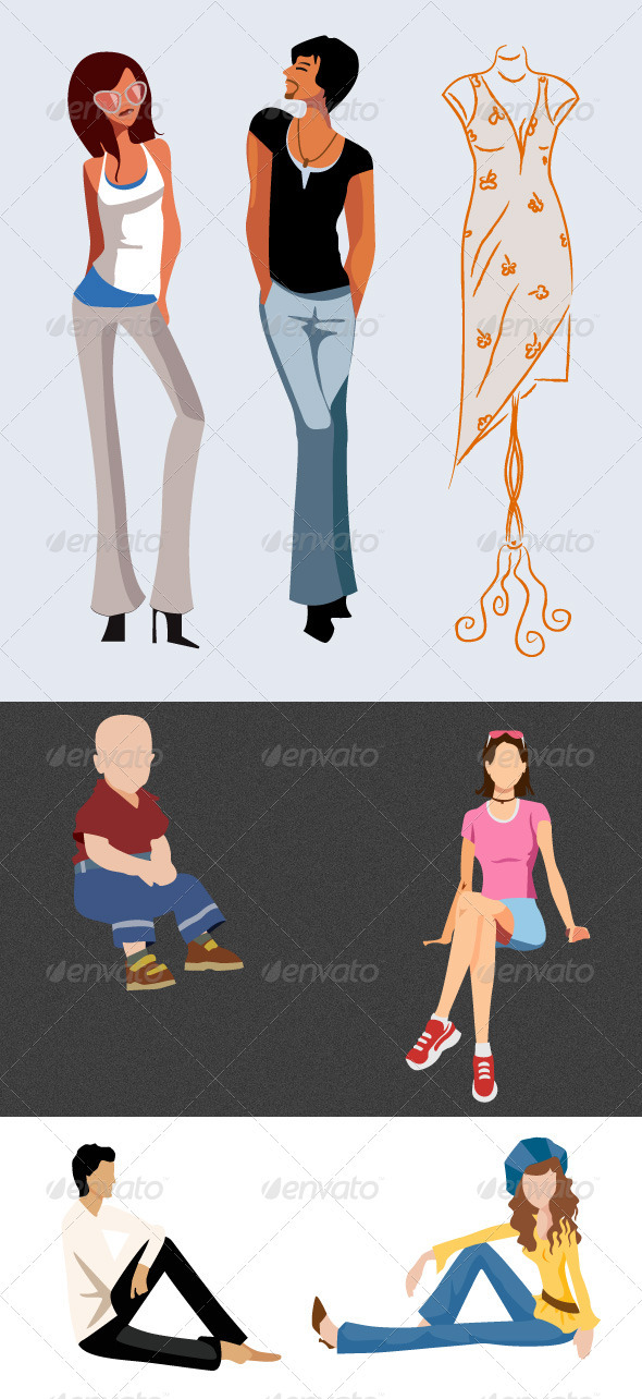 Fashion Model Vector - People Characters