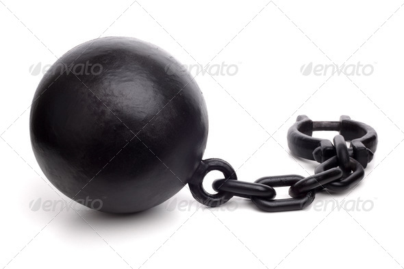 Ball and chain - Stock Photo - Images