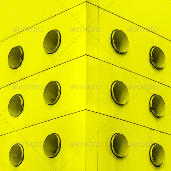 Yellow interior architecture abstract dirt vents. - Stock Photo - Images