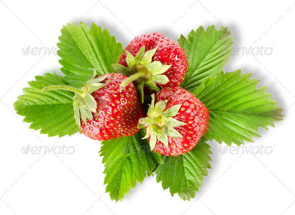 Heap strawberry isolated - Stock Photo - Images