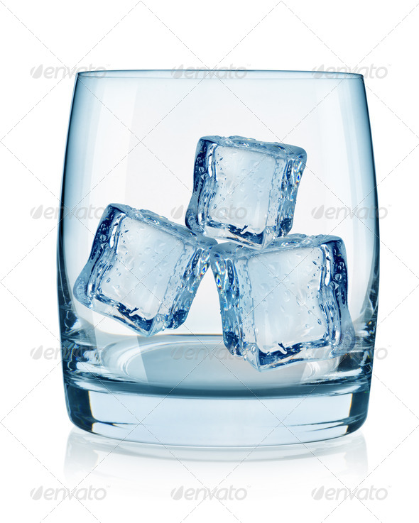 Glass and ice cubes - Stock Photo - Images