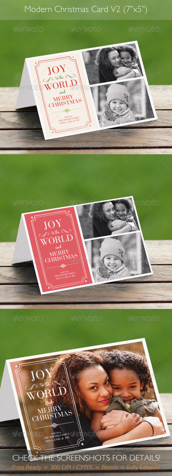 Modern Christmas Card V2 - Holiday Greeting Cards