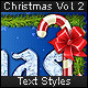Christmas Vol. 2 - Text Styles - GraphicRiver Item for Sale