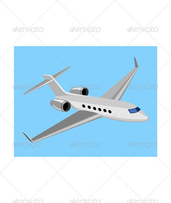 Commercial Jet Plane Airline Ret - Travel Conceptual