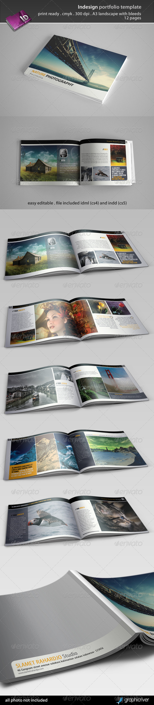 Indesign portfolio template by semutireng graphicriver for Free indesign portfolio templates