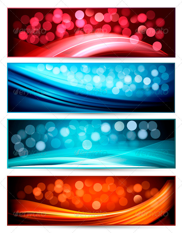 Set of abstract holiday colorful banners. Vector - Backgrounds Decorative
