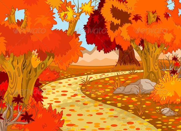Autumn Forest Landscape - Landscapes Nature