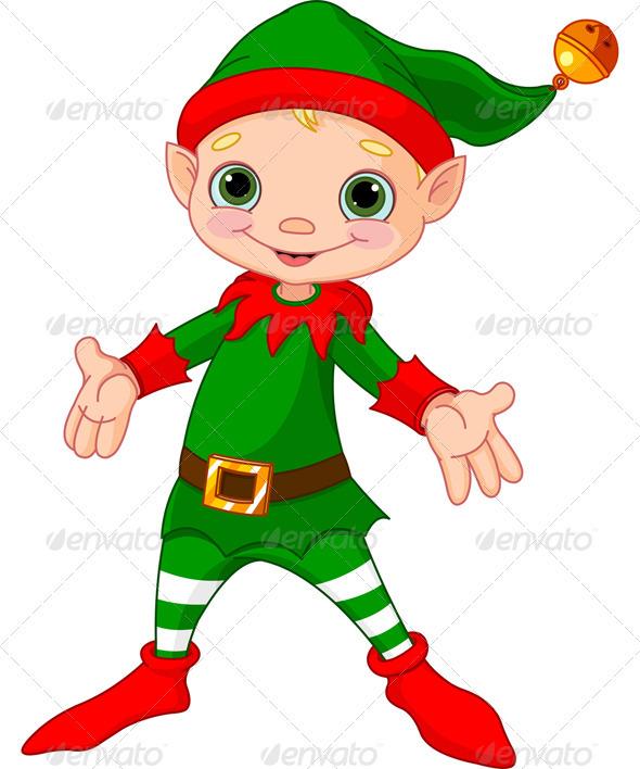 Happy Christmas Elf  - Christmas Seasons/Holidays