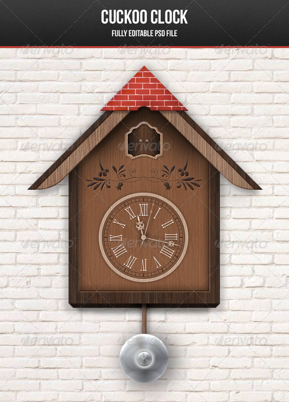 Cuckoo Clock - Objects Illustrations