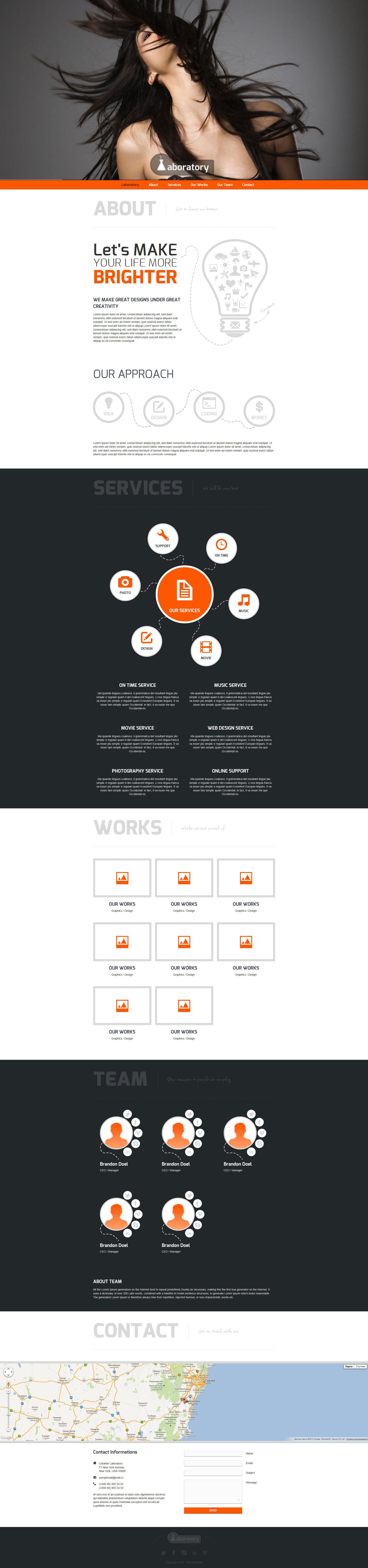 Laboratory - Onepage HTML5 Template by ThemeMarket | ThemeForest