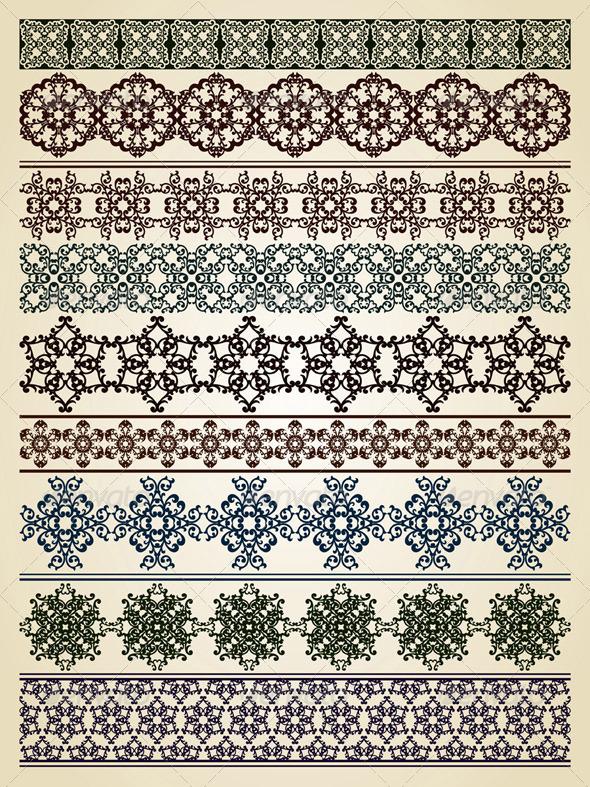 Vector Seamless Borders - Borders Decorative