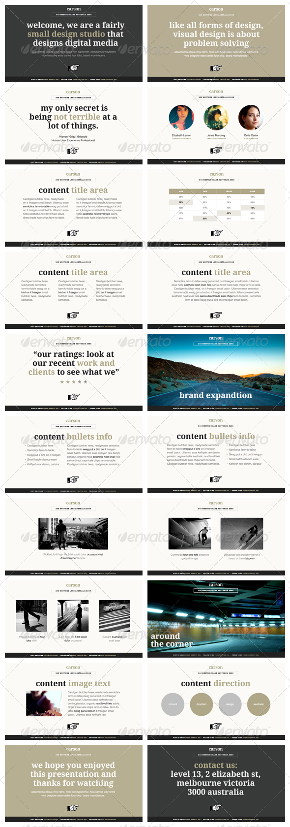 Carson - Keynote Presentation Template - Creative Keynote Templates