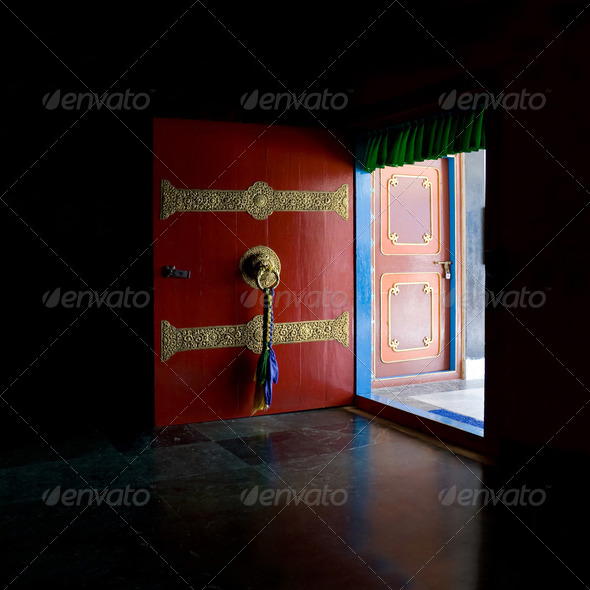 Open the red door - Stock Photo - Images