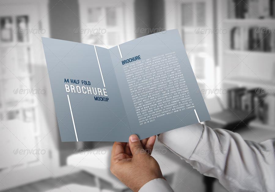 A4 Half Fold Brochure Mockups by ThemeTor | GraphicRiver