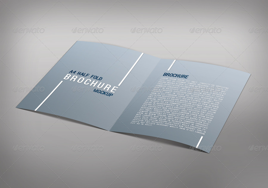 Half Fold Brochure Template Technological Style Halffold Brochure