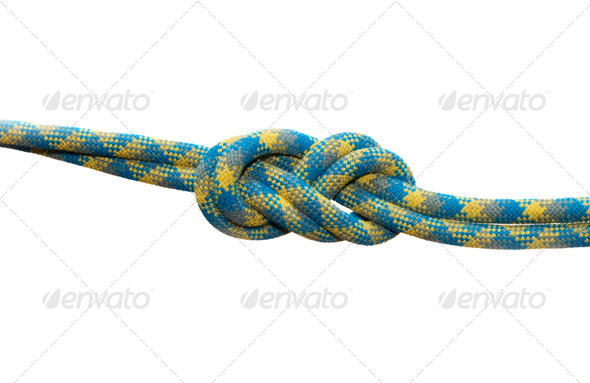 Sea knot figure of eight. - Stock Photo - Images