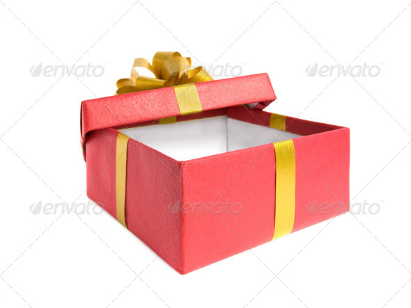 Fancy box. Isolated on white background. - Stock Photo - Images