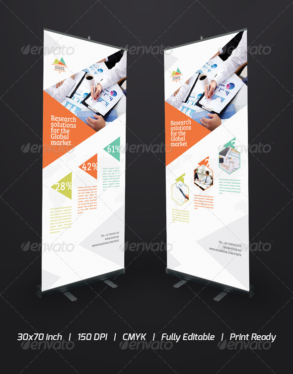 Statistics Roll-Up Banner - Signage Print Templates