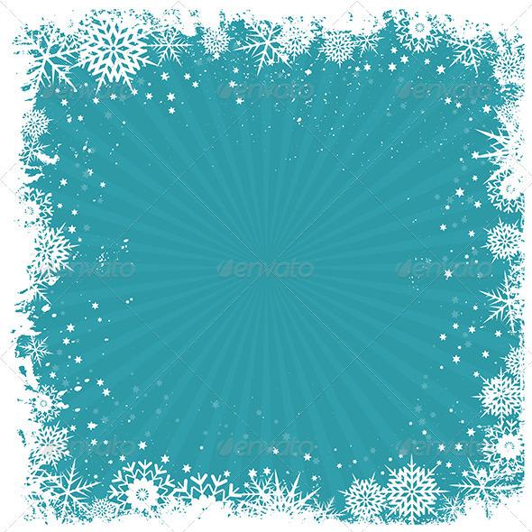 Grunge snowflake background - Christmas Seasons/Holidays