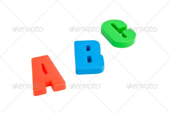 Lletters.  Isolated on white background. - Stock Photo - Images