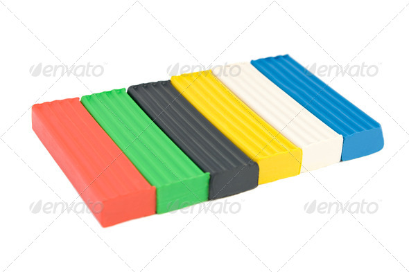 Multicolored plasticine - Stock Photo - Images