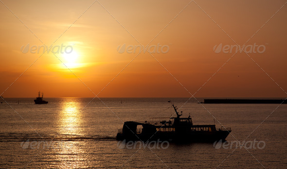 The ship floating - Stock Photo - Images