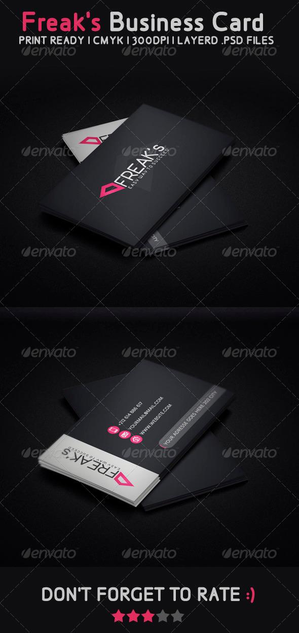 Freak Modern Business Card - Creative Business Cards