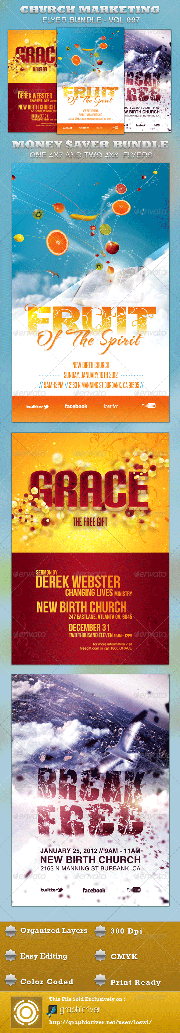 Church Marketing Flyer Bundle-Vol 007 - Church Flyers