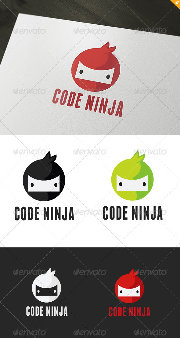 Code Ninja Logo - Humans Logo Templates