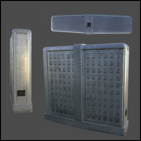 Security Turnstile - 3DOcean Item for Sale