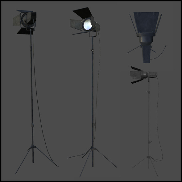 News Crew Lights - 3DOcean Item for Sale