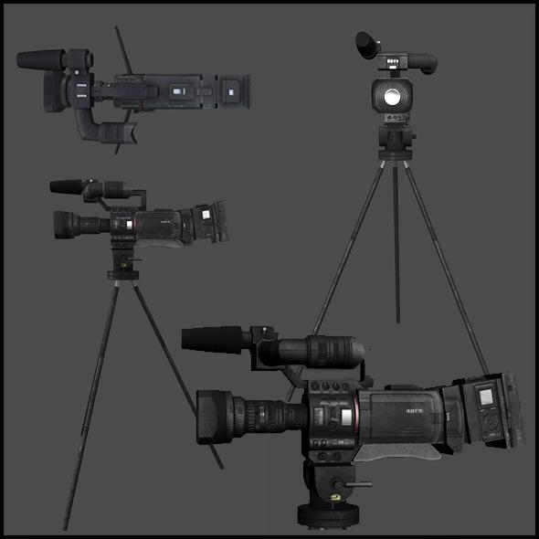 News Crew Camera - 3DOcean Item for Sale
