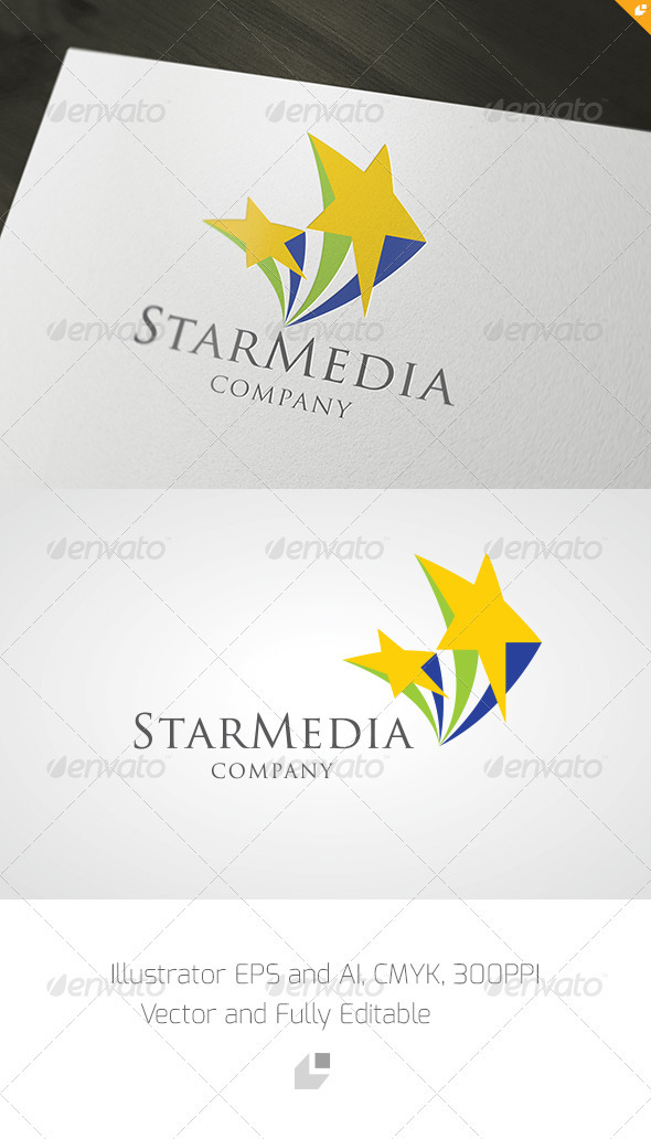 Star Media Logo - Symbols Logo Templates